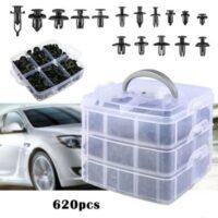 Πλαστικά κουμπώματα κλιπς αυτοκινήτων σε κασετίνα 620 τεμάχια OEM