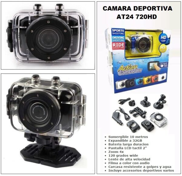 Action camcorder δραστηριοτήτων 720p 2'' touch panel - OEM