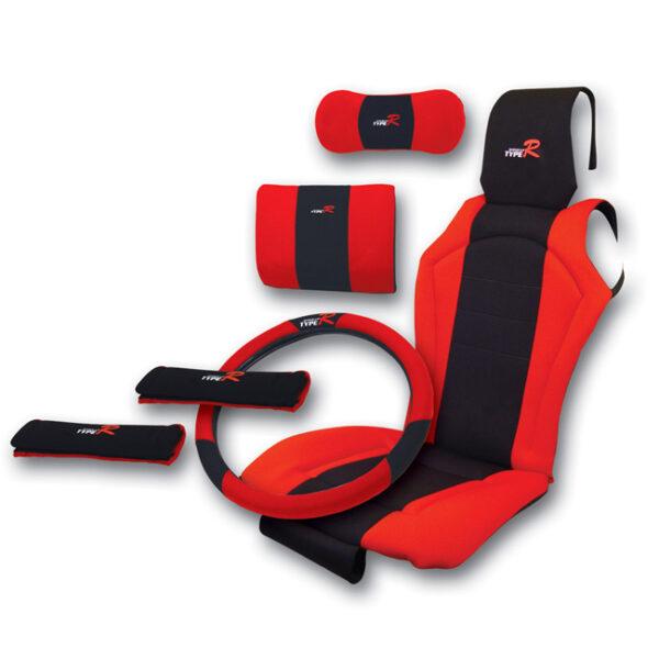 Πλατοκαθίσματα αυτοκινήτου Type R 6τμχ σετ κόκκινο