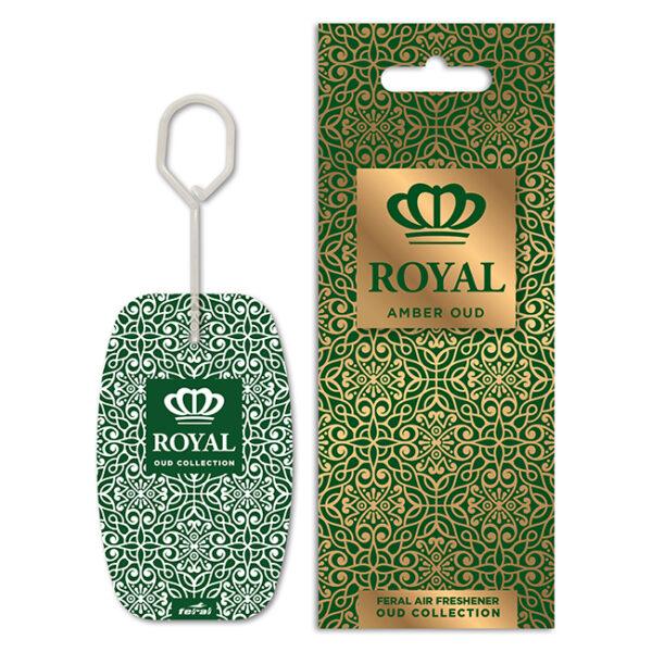Αρωματικό αυτοκινήτου κρεμαστό feral royal collection amber oud