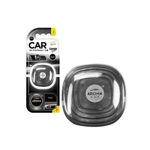 Αρωματικό αυτοκινήτου κρεμαστό aroma loop gel black