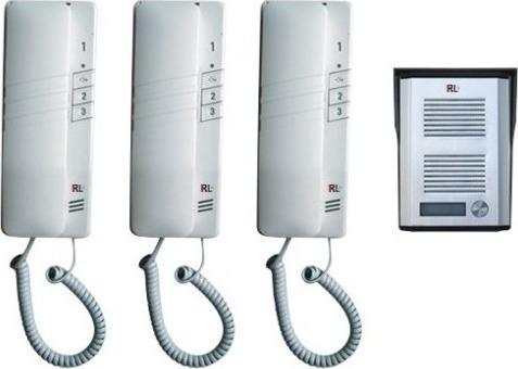 Σετ θυροτηλέφωνο μονοκατοικίας RL-3203AAA με τρία τηλέφωνα