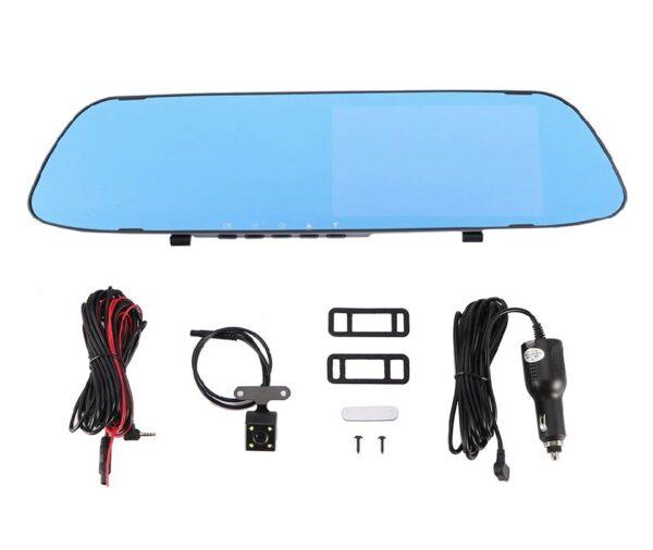 Καθρέπτης αυτοκινήτου με οθόνη LCD 4,9'', Ελληνικό μενού, κάμερα καταγραφικό Full HD DVR, κάμερα οπισθοπορείας, αισθητήρα κίνησης & G Sensor