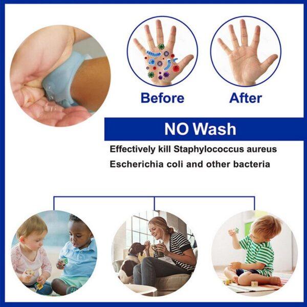 Αδιάβροχο βραχιόλι αντισηπτικού 10ml για ενήλικες και παιδιά