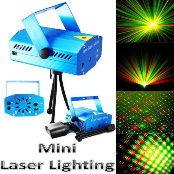 Mini προτζέκτορας- φωτορυθμικό κόκκινο- πράσινο Laser- Mini laser stage lightig SN-6Q OEM