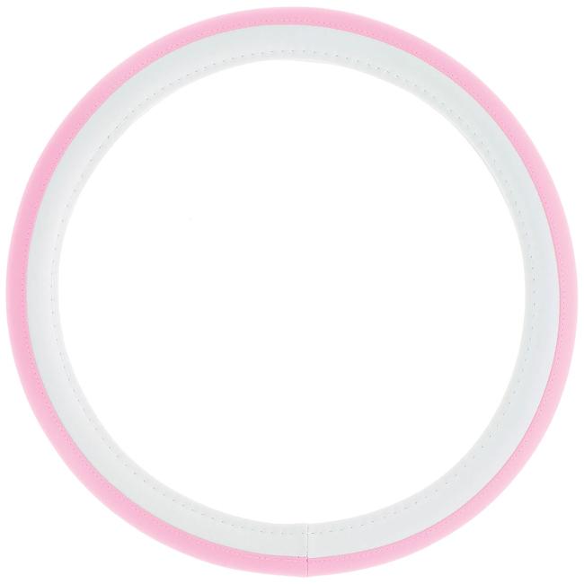 Κάλυμμα τιμονιού αυτοκινήτου δερματίνη Girly ροζ-λευκό 37 - 39cm